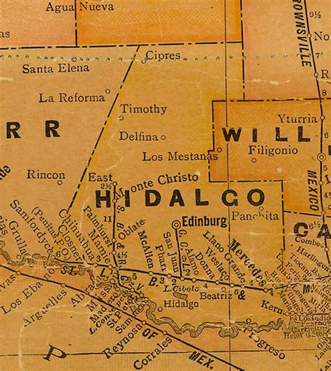 hidalgo texas map hidalgo county texas