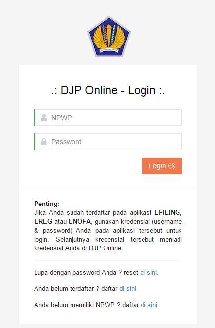 djp online pajak go id www djponline pajak go id cara penyaian spt melalui djp
