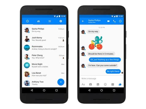 android gadgets messenger for android gets material design rev technology news