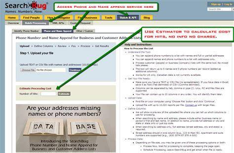 Searchbug Address New Batch Service Delivers 10 000 Names Phone Numbers In 20 Minutes Prreach