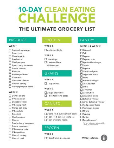 Galerry printable clean eating plan