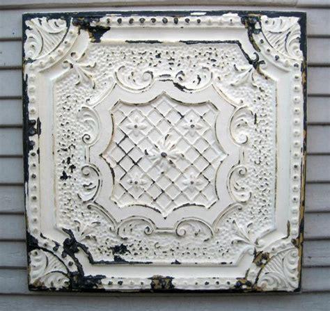 antique tin tile framed 2 x2 tin ceiling tile circa