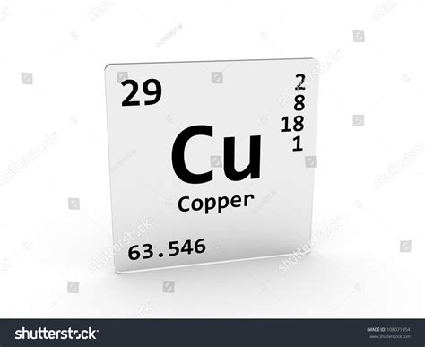 Cu On Periodic Table by Copper Symbol Cu Element Periodic Table Stock Illustration