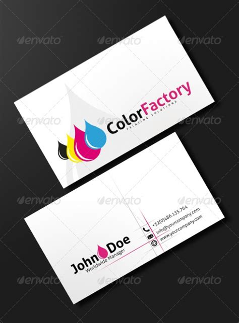 printed business card template business cards design and printing gallery card design