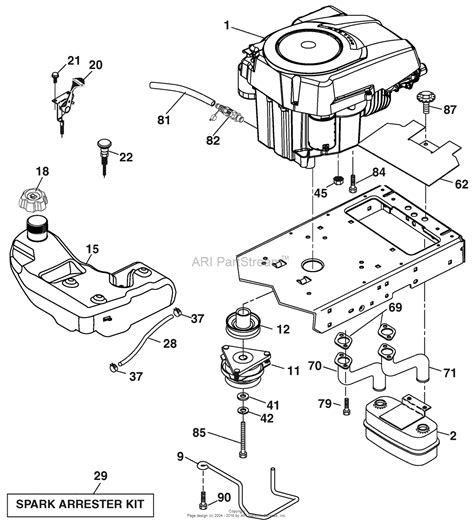 diagram of a lawn mower engine ariens 936043 960460018 00 hydro tractor kohler 54