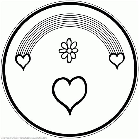free coloring pages valentine hearts valentine heart mandala coloring pages free for kids