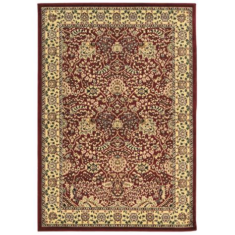 linon home decor rugs linon home decor elegance zeigler red 8 ft x 10 ft area