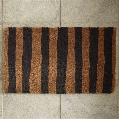 Striped Doormat Painted Stripe Doormat Contemporary Doormats By West Elm