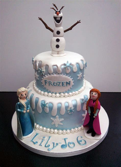 disney frozen themed cake  olaf anna  elsa susies cakes