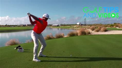 swing down the line golf rickie fowler golf swing down the line driver swing youtube