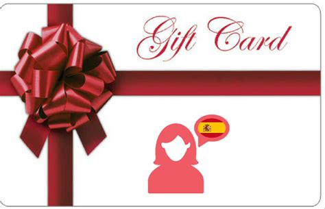Gift Card Spanish - spanish course gift card great present