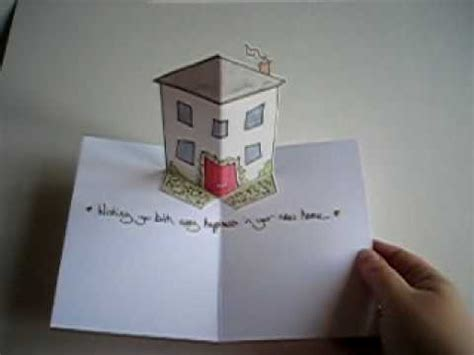 house pop up card template new home pop up card