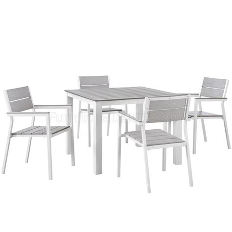 patio furniture maine maine 5 outdoor patio dining set in white gray by