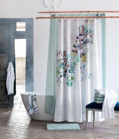floral shower curtain   turquoise bath mat hm home