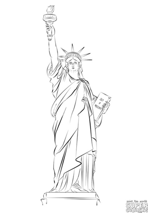 lade stile liberty statue of liberty liberty pencil and in color
