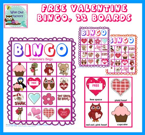 7 best images of free printable valentine s day bingo