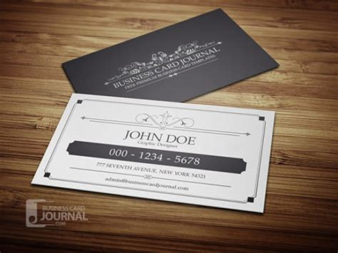 vintage business card template psd vintage business card in black and white psd file free