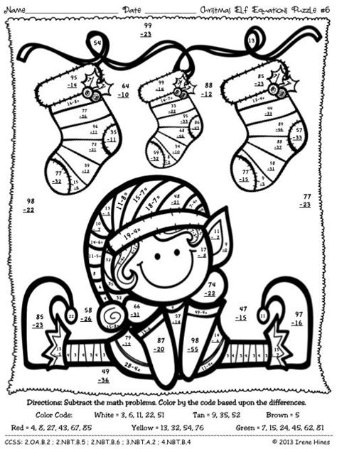christmas coloring pages with math problems equivalent fractions coloring pages