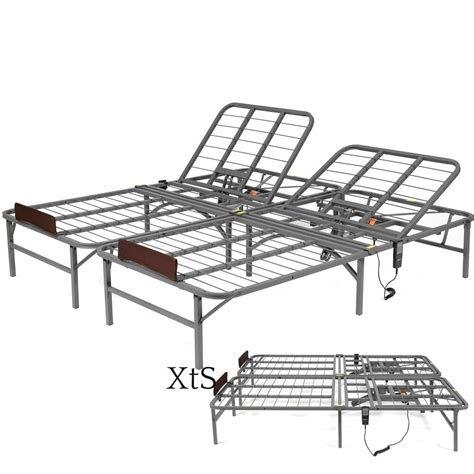 electric adjustable bed frame hospital metal remote faux