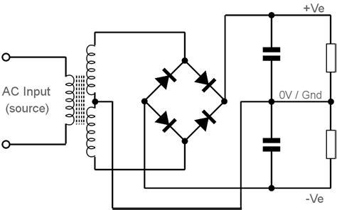 wave bridge rectifier circuit diagram circuit and
