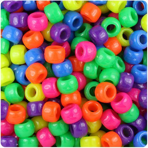 pony bead beadtin llc neon bright multi 9mm barrel pony