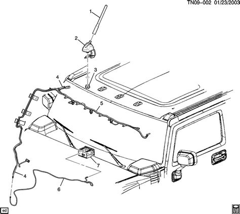 service manual how to remove antena on a 2007 hummer h3