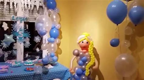 arreglos con globos de frozen decoraci 243 n tem 225 tica de frozen con globos youtube