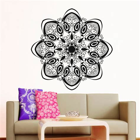 yoga inspired home decor modern style home decor mandala indian pattern yoga wall