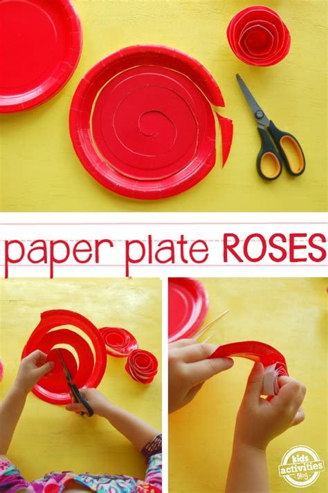 Roses Paper Craft - how to make paper plate roses
