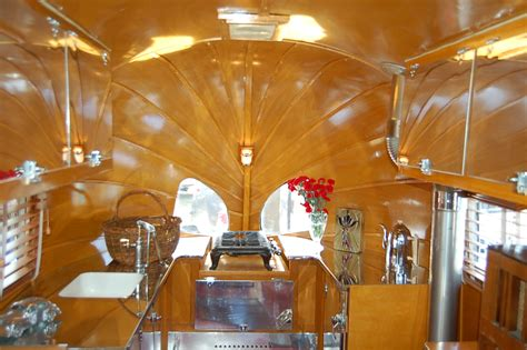 vintage airstream trailer interiors  oldtrailercom