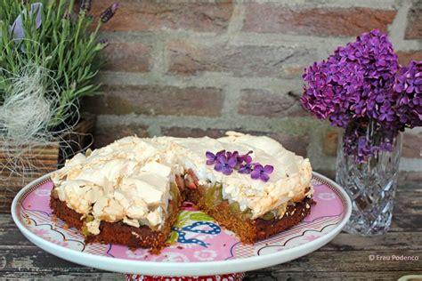 einfaches kuchen rezept rhabarber baiser kuchen einfaches rezept frau podenco