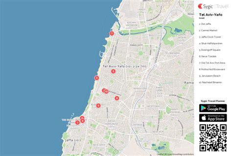 tel aviv map tel aviv yafo printable tourist map sygic travel