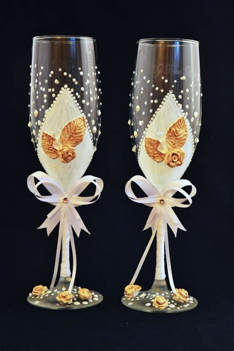 Handmade Chagne Glasses - decorated wedding glasses 28 images decorated