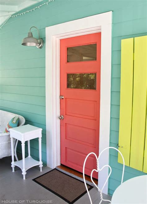 coral door coslick doc cottage tybee island painted doors