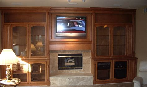 after custom cabinets around fireplace c l design
