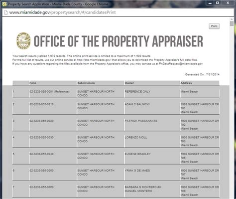 Property Records Miami Dade Property Search Help Miami Dade County