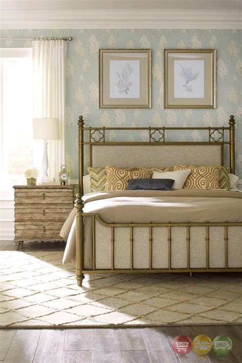 antique king bed with wooden frame and foot board iron pavilion king antique brass frame bed with upholstered