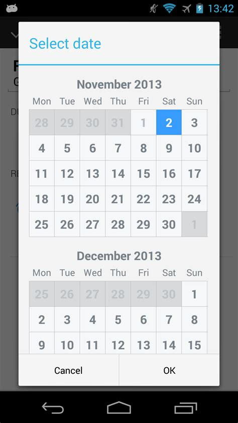 layout calendar android calendar resizes itself when date is selected dialog