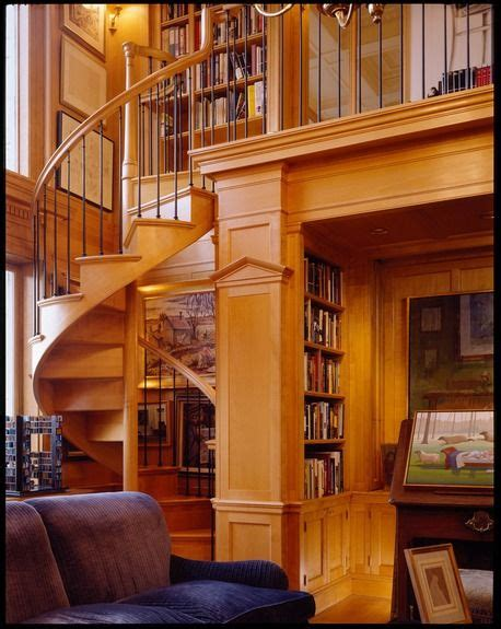 small home library design ideas stairways