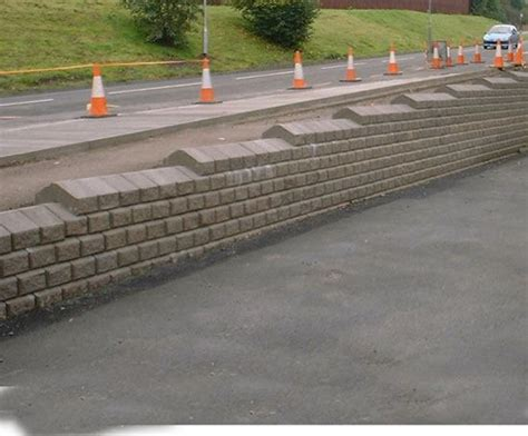 Retaining Wall Products by Chevloc Split Faced Precast Concrete Retaining Wall