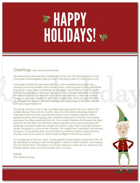 word templates for holiday letters holiday letter template 16 free word pdf psd format