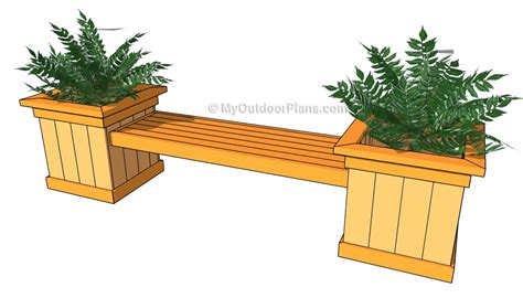bench with planter box plans woodwork bench planter box plans pdf plans