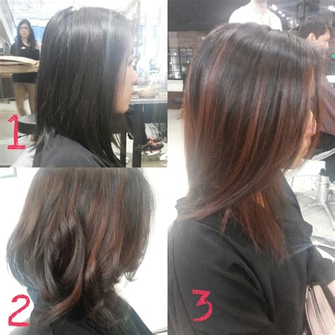 sf salon black hair balayage with reddish brown hair with bella i had two
