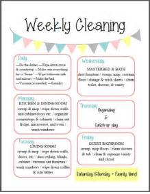 Thought i would startwith a cleaning schedule this makes for easy