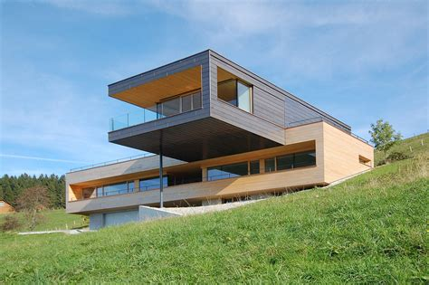 cantilever homes a cantilevered home overlooking a lake in austria design