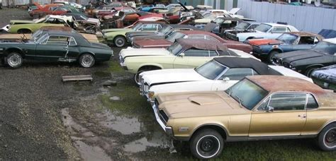 Mustang Auto Yard by Antique Junk Yards Classic Mustang Salvage Yards By