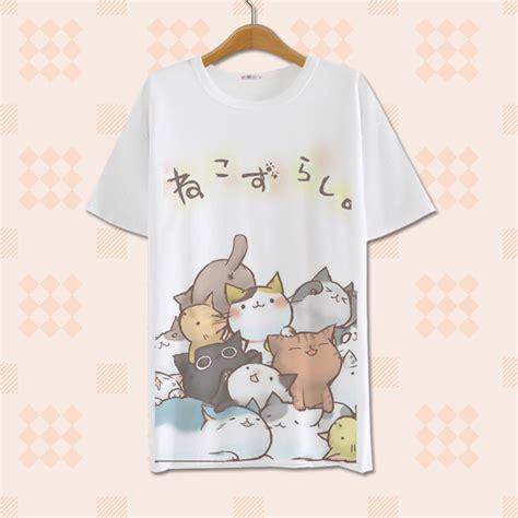 Cat Set T Shirt And Dress cat printing t shirt 183 asian kawaii clothing
