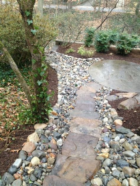 Drainage Rock For Sale Walkways Contemporary Landscape Dc Metro By