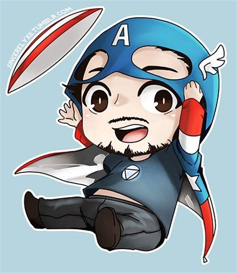 Figure Captain America Ironman Chibi chibi tony with captain america fanart bt z nth moved fanart