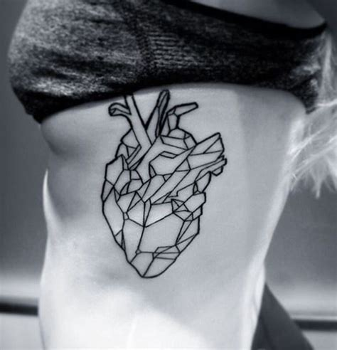 geometric heart tattoo geometric pinteres